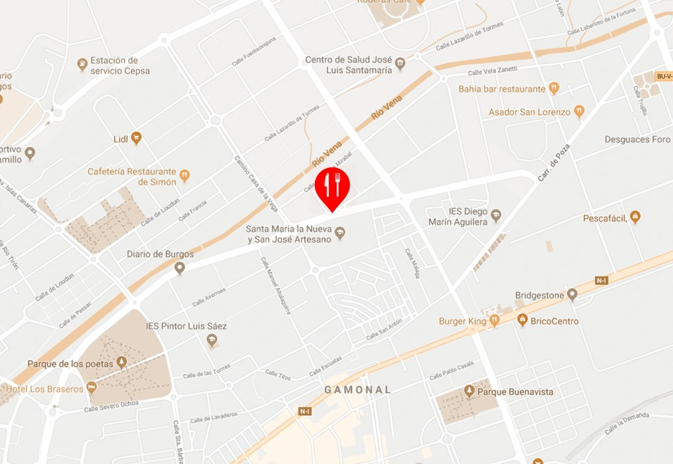 mapa restaurante carmen