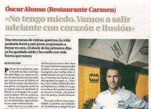 Oscar Alonso Carmen Restaurante Diario de Burgos